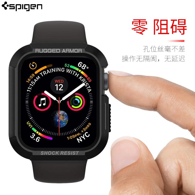 spigen苹果iWatch5保护壳表带Apple4代智能手表外壳运动外壳iWatch 40/44mm硅胶全包防摔保护套