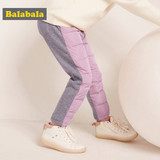 Balabala children's trousers with down trousers, baby's down trousers in autumn and winter