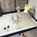 Ins Nordic style children's room carpet baby cotton crawling mat baby play mat machine washable decoration