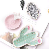 Super cute and cute fleshy flamingo tray jewelry storage tray jewelry plate ins wind Nordic style fresh small dish