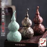 small town curtilage ceramic bottle gourd of jin feng shui bagua furnishing articles to hang the wine gourd hip take archaize
