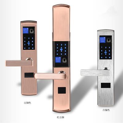 指纹锁 家用防盗门指纹锁电子锁智能锁密码锁近户大门锁廉租房锁