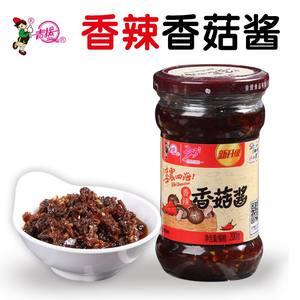 青援香辣香菇酱200g辣椒酱拌饭拌面下饭夹馍酱火锅蘸料调味蘑菇酱