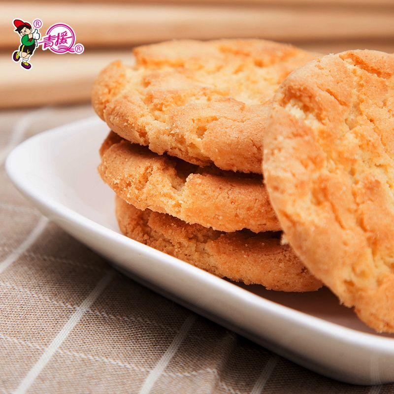 青援无添加蔗糖饼干不加蔗糖桃酥早餐代餐4包糕点中老年低糖饼干