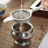 Stainless steel tea leak tea filter Kung Fu tea set filter accessories Tea filter filter tea drag rack