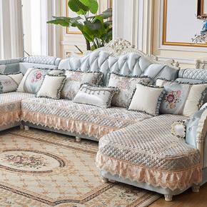 欧式沙发垫子全包套罩U型简欧四季通用布艺坐垫套防滑保护罩包邮