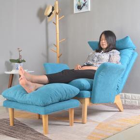 北欧懒人沙发单人休闲卧室电脑躺椅阳台小沙发可拆洗多功能沙发床