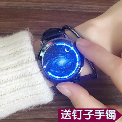 新概念个性无指针LED触摸屏手表情侣女学生男创意防水发光电子表排行