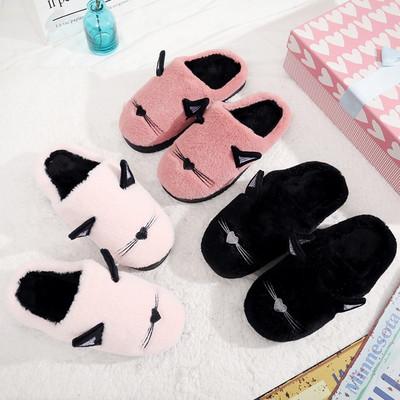 棉拖鞋女男士厚底情侣秋冬季居家居韩版室内包跟冬天毛毛拖鞋可爱