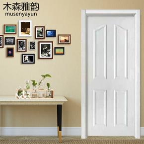室内门套装门房间门卧室门卫生间门实木复合免漆门白色门现代简约