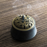 Sacred Mountain antique glazed furnace retro coarse pottery incense stove sandalwood incense incense stove incense incense stove incense tea ceremony accessories tea mat creative ornaments