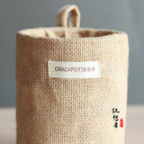 Rhapsody Sen Department jute cloth basket dried flower pot planting home decoration decoration