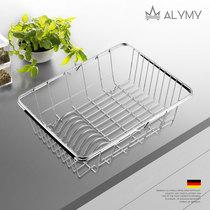 不锈钢沥水洗菜篮碗架304厨房水槽沥水篮伸缩水槽篮可拉伸沥水篮