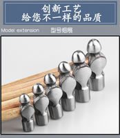 Hand hammer iron hammer round head hammer nipple hammer wooden handle square head hammer household milk taro small hammer tool Chinese medicine