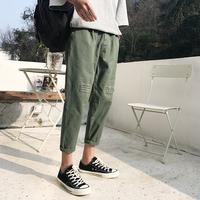 夏季灰色工装裤