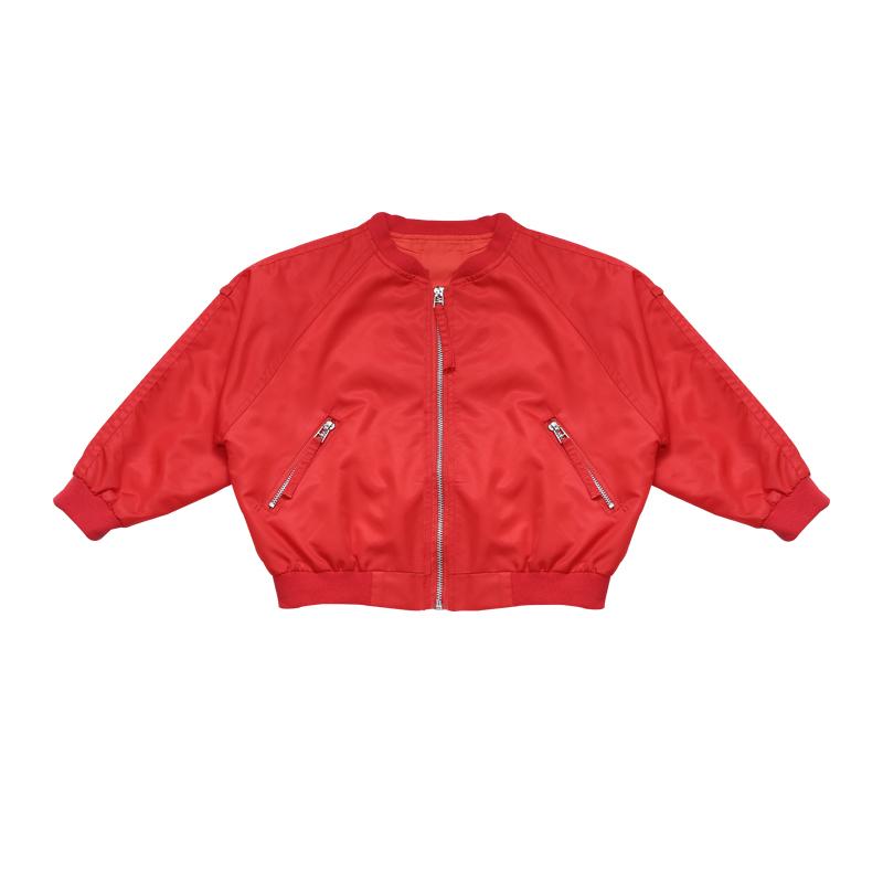 女童外套春秋装2018新款潮短款夹克洋气韩版儿童秋季棒球服中大童
