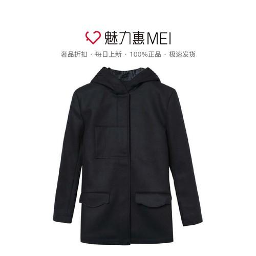 Jacadi/亚卡迪 藏蓝色大口袋女童秋冬连帽棉衣外套