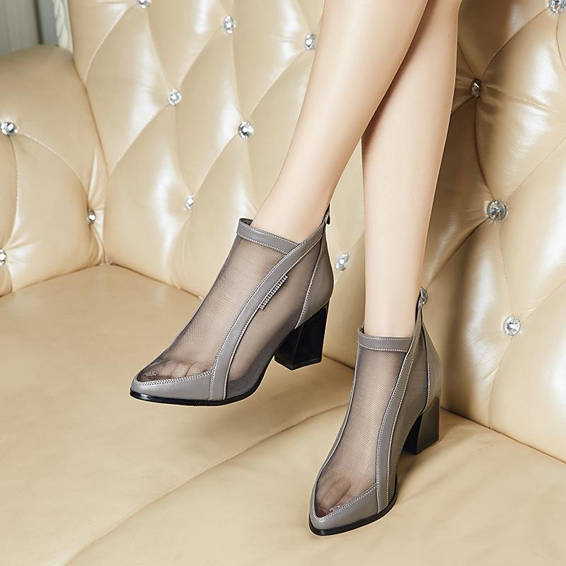 女短靴夏新款