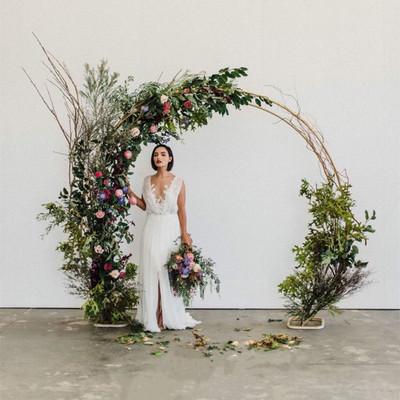 2019新款婚庆道具圆环 双杆拱门架子 单杆拱门圆弧形婚礼