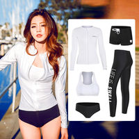 Korean diving suit female split snorkeling swimwear female conservative thin long sleeve sunscreen quick dry surf clothing jellyfish clothing