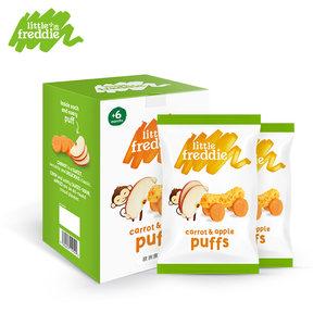 小皮欧洲原装进口苹果胡萝卜玉米棒泡芙2*20g/盒 婴儿宝宝零食