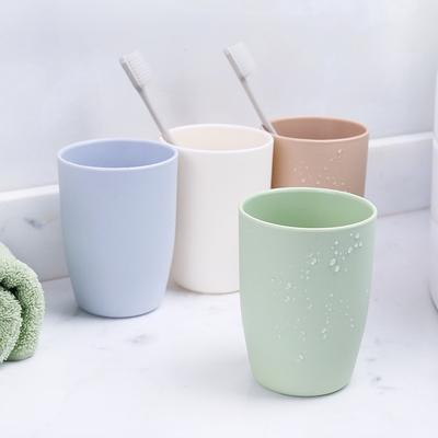 圆形塑料牙刷杯口杯情侣刷牙杯子创意家用牙缸杯简约洗漱杯漱口杯