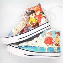 Bo Niu Zong Jie-qian and Qianxun Princess of the Phantom have renovated the joint name of graffiti custom canvas shoes, sandals, hand-painted couple shoes