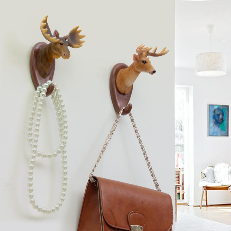 美式创意立体仿真动物壁挂家居墙面装饰挂钩试衣间门后衣帽收纳钩1元优惠券