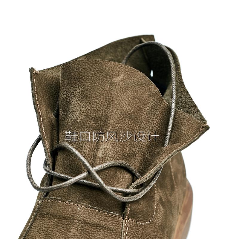 秋冬真皮男靴英伦时尚做旧马丁靴 复古厚底系带休闲高帮鞋短靴子