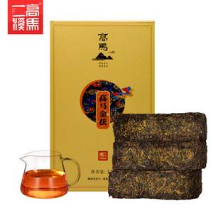 安化黑茶高马二溪金花茯茶1kg 正宗黑茶湖南安化茯砖茶正品安华