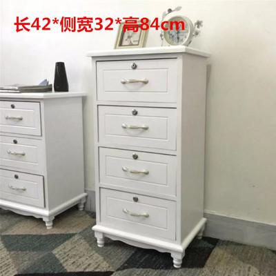 欧式实木床头柜带锁抽屉式收纳柜卧室白色斗柜多层木质柜子储物柜