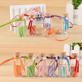sea shell leather rope ornaments small bottle creative small gift color leather rope wishing bottle diy glass bottle birthday wholesale