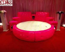 情趣圆床电动床红床水床情侣性爱合欢床主题酒店桑拿会所情趣家具