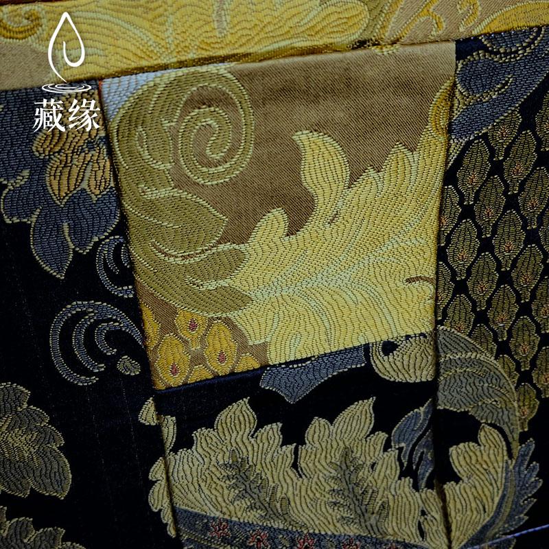 西藏文殊唐卡挂画佛像尼泊尔天然矿物原料仿手绘唐卡客厅玄关装饰