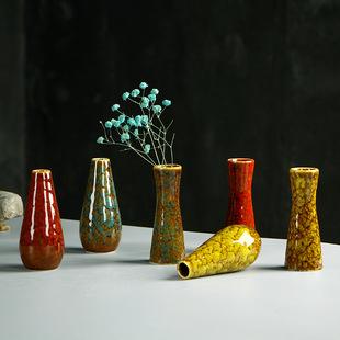 厂家中国风陶瓷花瓶古典花插花器居家装饰工艺品摆件