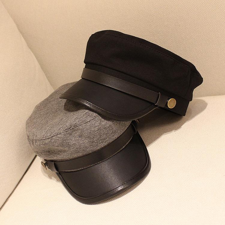 秋冬平檐帽
