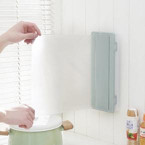 带盖双格保鲜膜收纳架保鲜袋收纳盒厨房壁挂置物架冰箱餐具筷子盒