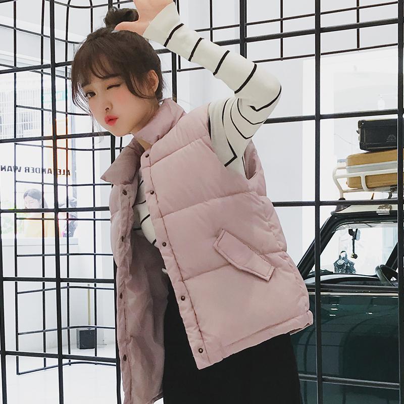 New down cotton vest female autumn and winter bf vest short Korean version of chic cotton