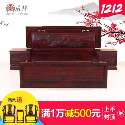 东阳红木家具双人床打折促销