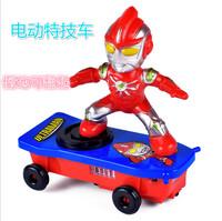 抖音同款卡通特技滑板车自动翻起音乐电动滑板特技车儿童玩具批发