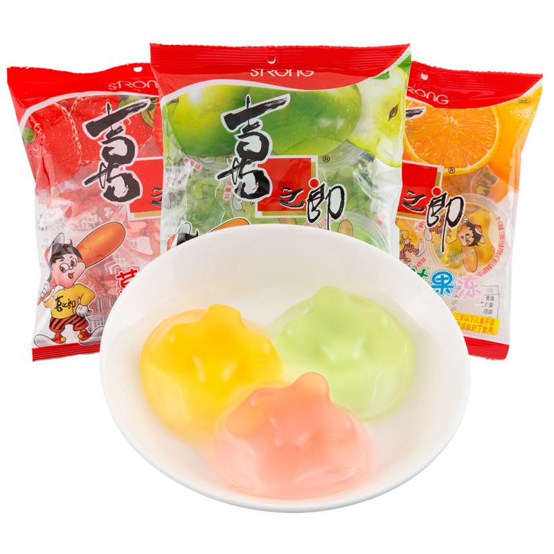 喜之郎 果冻90gX30袋整箱 多口味可选苹果香橙草莓味肉果冻布丁