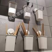 白色牙刷杯厨房餐具架 吸盘牙刷架 宜家国内代购 提斯科恩图片