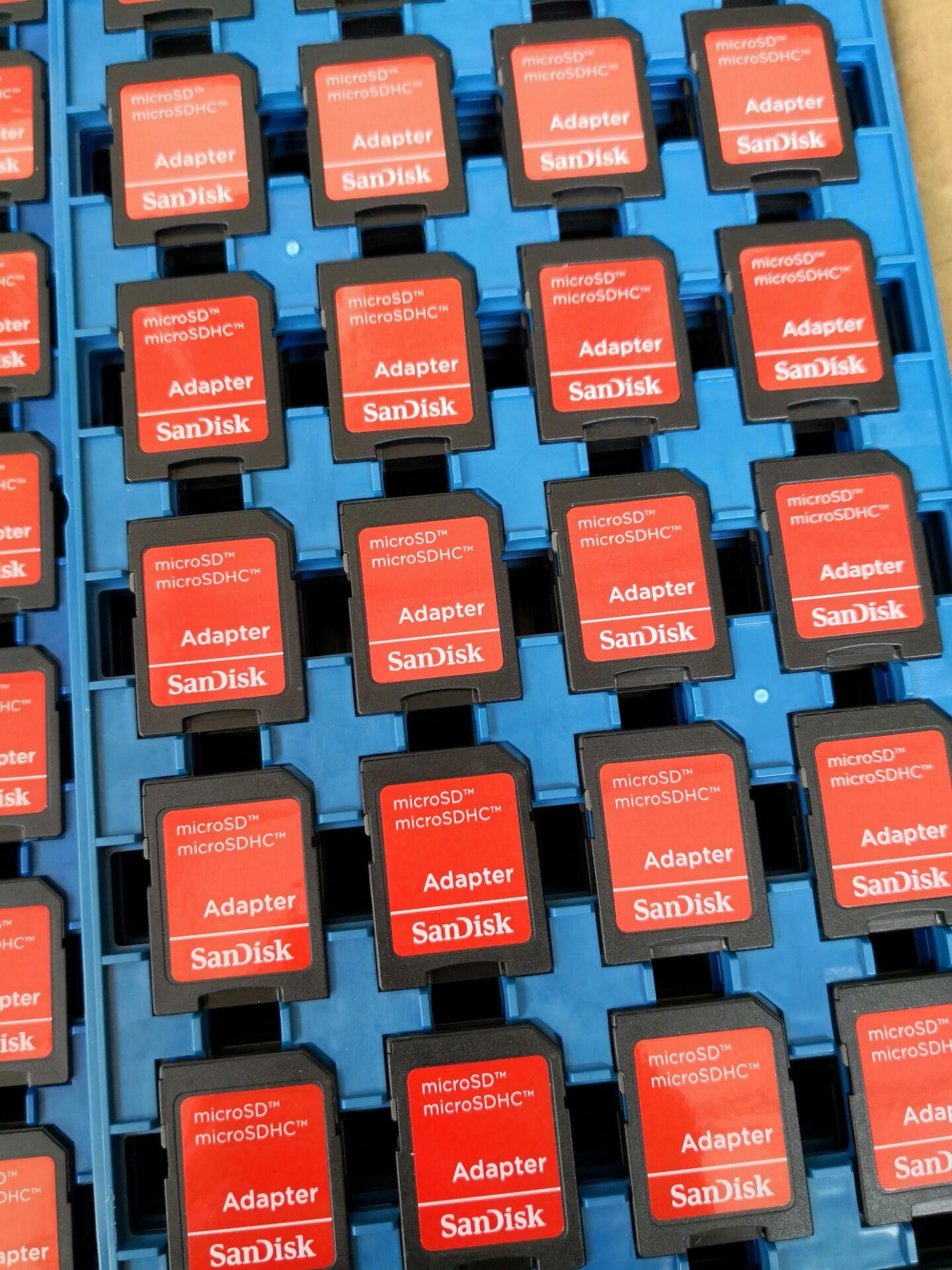 原装闪迪内存SD卡套手机TF卡转接SD卡托小卡转大卡SD卡套+读卡器