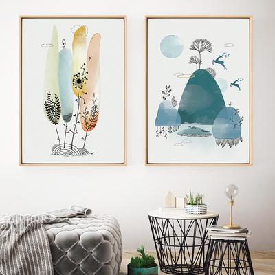 北欧壁画卧室床头餐厅客厅装饰画沙发背景墙墙画现代简约卡通挂画新品特惠