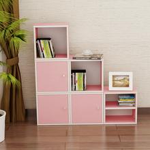 矮柜北欧风活动储物单门置物图书小孩子卧室矮格落地书柜自由组合
