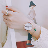 Ins Harajuku style watch female student Korean version of simple casual atmosphere retro literary small fresh trend ulzzang