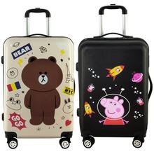 可爱大小学生儿童男女拉杆旅行箱小清新 涂鸦卡通行李箱万向轮韩版图片