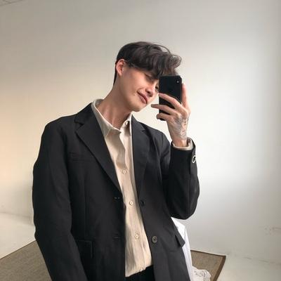 cuibuju/18ss 韩版修身西装外套男士商务职业西服伴郎新郎礼服
