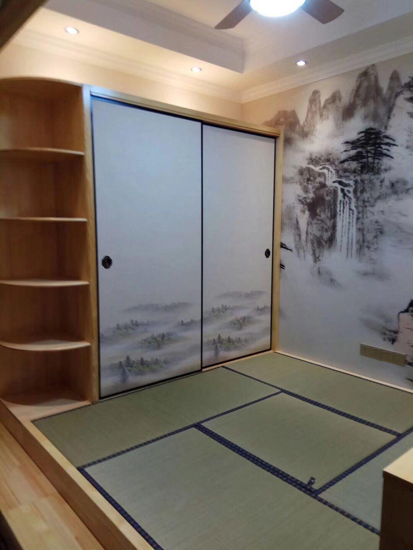 日式门隔断门定制榻榻米柜门福司玛门衣柜门推拉门彩绘门移门加高