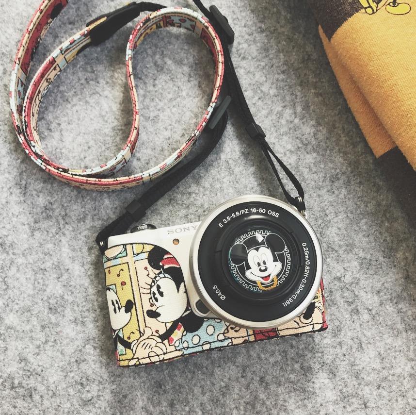米奇 索尼微單相機包 細帆布硬殼A5100L A6000A5000專用皮套底座